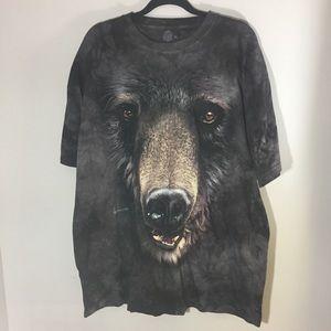 The Mountain bear T shirt in brownish grey